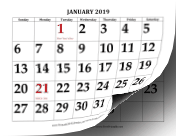 2019 with Large Print calendar